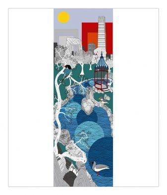 Portrait of Beijing - Twelve Cities Painting SOLD Limited edition prints: 150cm x 43 cm ¥8500 60cm x 20cm ¥1800 Powder-coated steel 120 1/2 x 50 x 7/8 inches / 306 x 127 x 2 cm