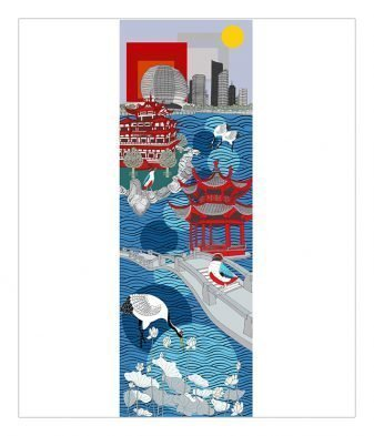 Portrait of Hangzhou - Twelve Cities 2011 Painting SOLD Limited edition prints: 150cm x 43 cm ¥8500 60cm x 20cm ¥1800 Powder-coated steel 120 1/2 x 50 x 7/8 inches / 306 x 127 x 2 cm
