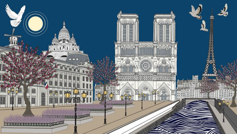 The Tale of Notre-Dame de Paris Acrylic and pigment on canvas, 2019 - 230cm x 130cm - ¥188800 Limited edition print:105cm x 60cm ¥6500